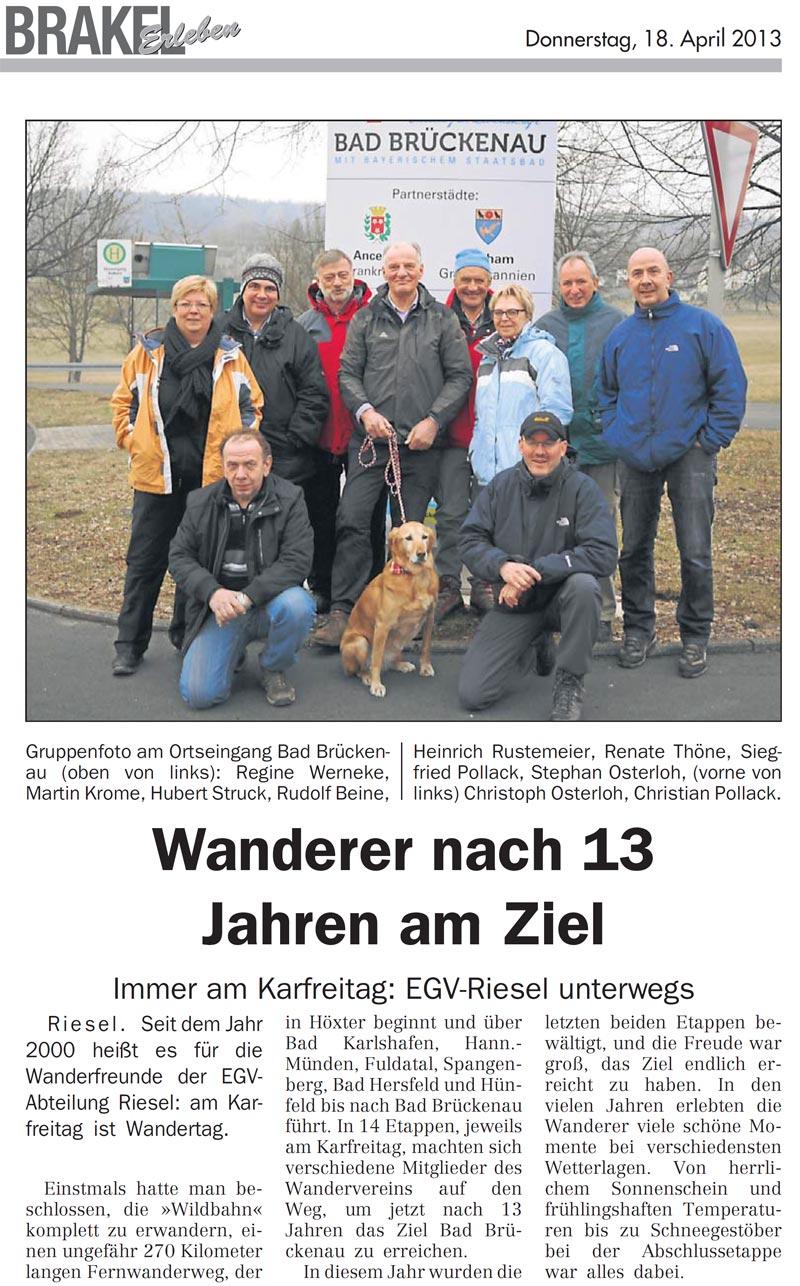 Foto Karfreitags-Wanderung auf der Wildbahn 2013
