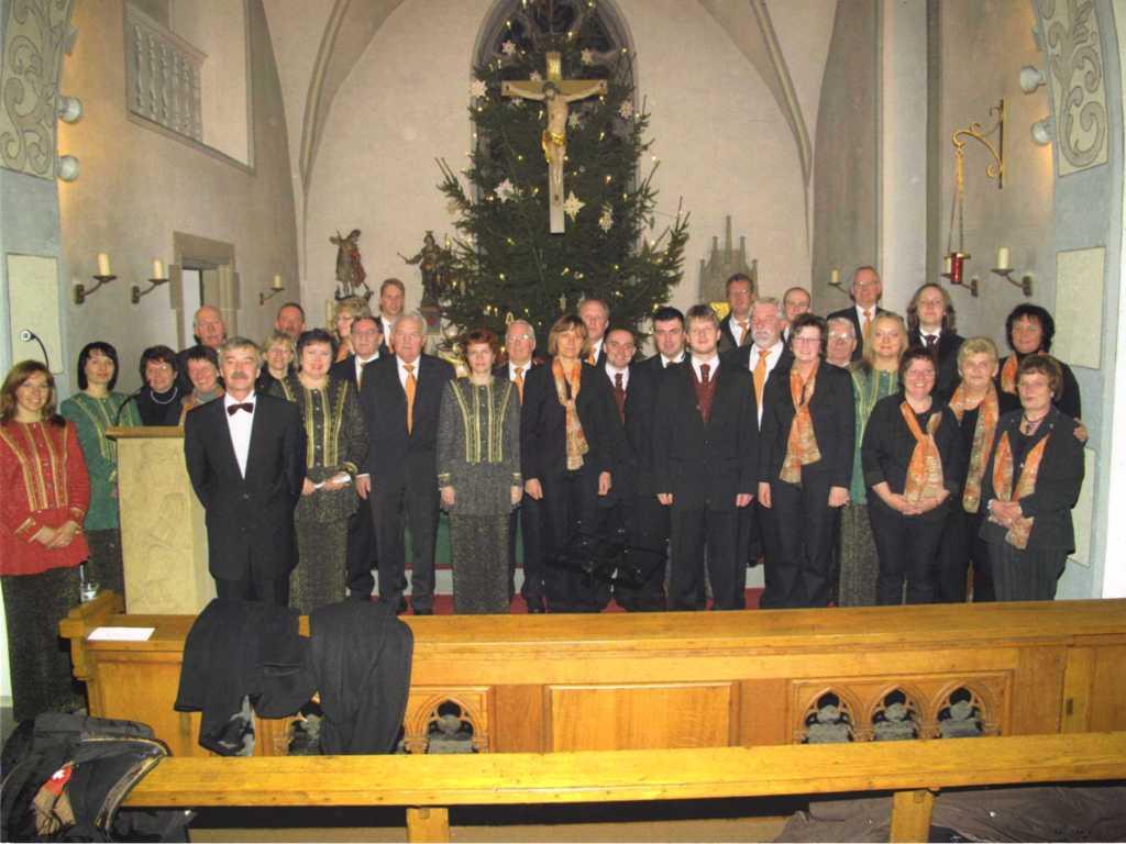 Foto vom Konzert mit dem Chor Blahovist in der Rieseler Kirche 2010